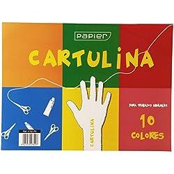 Unipapel 47820 - Bloc de 10 hojas cartulinas de colores