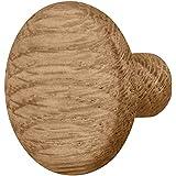 Gedotec Meubelknop houten lade-knop eiken voor kastdeuren & meubels - FRANK | kastknop keuken met Ø 32 mm | deurknop naturel