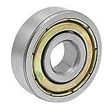 Rodamiento rigido de bolas - TOOGOO(R) 6200ZZ 2 Rodamiento rigido de bolas de metal de 10mm x 30mm x 9mm