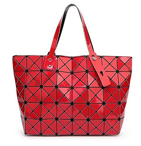 Donne Diamond Traliccio Geometria Borsa Tracolla Imbottita Ologramma Designer Borsette Del Sacco