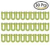 Stabile Kleiderbügel Anschluss Mini Cascading Kleidung Rack Haken Brust platzsparend Befestigung Huggable Style Kleiderbügel, grün, 30Stück