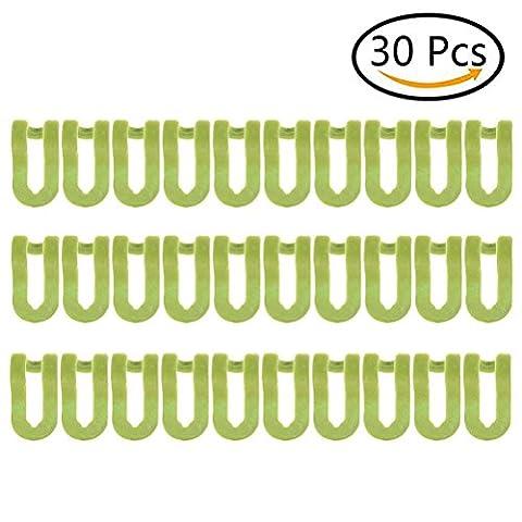 Stabile Kleiderbügel Anschluss Mini Cascading Kleidung Rack Haken Brust platzsparend Befestigung Huggable Style Kleiderbügel, grün, (Kleidung Closet Organisation)