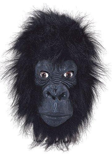 Fancy Me Erwachsene Damen Herren Rubber Das Gesicht Bedeckend Maske Animal Halloween Kostüm Kleid Outfit Zubehör - Gorilla (Closed Mund)