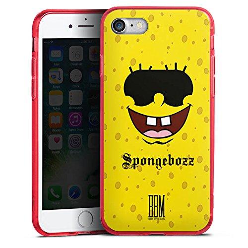 Apple iPhone 8 Silikon Hülle Case Schutzhülle Spongebozz BBM Fanartikel Merchandise Silikon Colour Case rot
