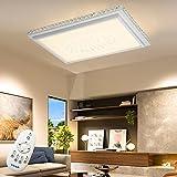 64W LED Kristall Deckenleuchte Starlight-Effekt Quadrat Deckenlampe Wohnzimmer Flurleuchte Wohnraum Deckenbeleuchtung Esszimmer Badlampe Wand-Deckenleuchte (64W Dimmbar)