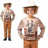 Rubie's 640788 9-10 Offizielles Dino-Explorer-Kostüm, Safari-Dschungel-Zoo-Kostüm, Kinder-Kostüm, Größe 9-10 Jahre, Unisex, Mehrfarbig, XL