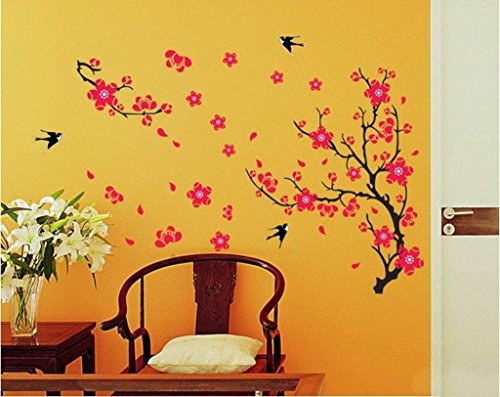 Decals Design 'Branch with Flowers' Wall Sticker (PVC Vinyl, 50 cm x...