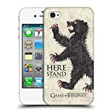 Official HBO Game of Thrones Mormont House Mottos Hard Back Case for Apple iPhone 4 / 4S