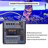 Kalaok Langed MD-2006 Portable 6-Kanal Digital Mischpult Mixer LCD TouchScreen Eingebaute Effekte mit USB-Schnittstelle für die Aufnahme DJ-Netzwerk Live Broadcast Karaoke