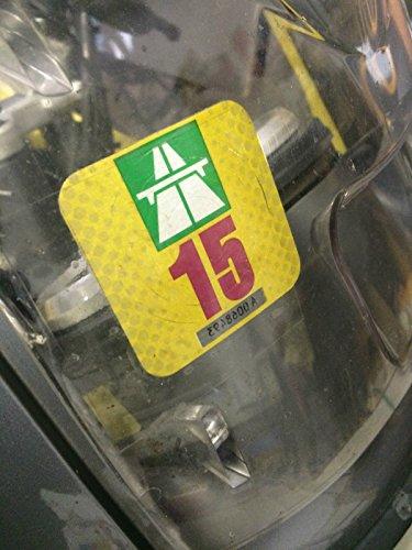 Clear-Screen Träger Klebefolie Untergrund für 2 x Vignette, für Motorrad-Verkleidungen u.a. (Träger Für Motorrad)