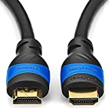 deleyCON 1,5m HDMI Kabel HDMI 2.0 / 1.4a kompatibel High Speed mit Ethernet (Neuster Standard) ARC 3D 4K Ultra HD (1080p/2160p)