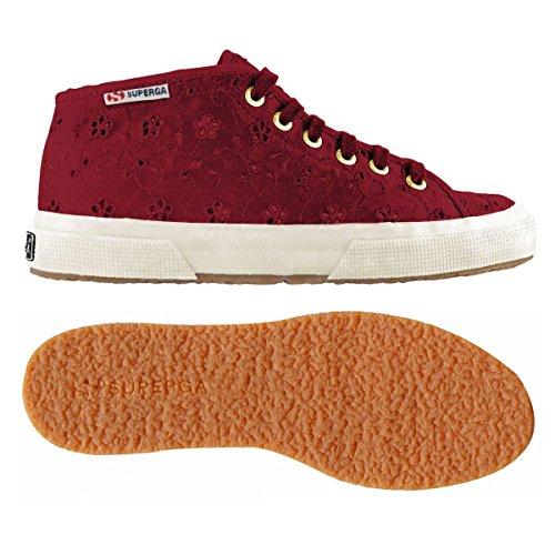 Superga 2754-Sangallosatinw, Sneaker a Collo Alto Donna PRUNE