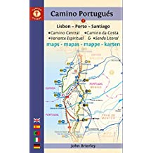 Mapa - Guía Camino de Santiago Portugués en multilingüe (Camino Guides)