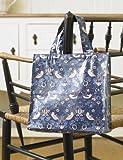 Laura's Beau William Morris Strawberry Thief Small Shopping Pvc / Oilcloth Bag Bag