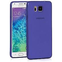 TBOC® Funda de Gel TPU Azul para Samsung Galaxy Alpha SM G850 de Silicona Ultrafina y Flexible