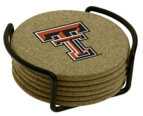 Thirstystone Texas Tech University with Holder Included Cork Gift Set -