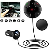 Car Kit Adapter Hands-Free Wireless Calling Streaming Dongle, Bluetooth Transmitter/ Receiver,Bluetooth 3.0 Handsfree FM Transmitter