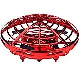 YOYOGO ❀Juguetes Electrónicos Full Cover 3D Rolling Inducción Drone Quadcopter Toy Rtf Modo Sin Cabeza Hover