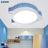 LbcvhHabitación niños Cartoon Cartoon Delfín lámparas de techo LED luces LED de las luces de la habitación de los niños luz de techo ojo dormitorios niño lámparas lámparas creativas L52*W55*h8cm