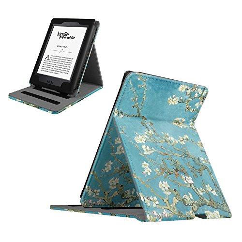 Fintie Etui Amazon Kindle Paperwhite - étui de Retournement Vertical, fermeture magnétique avec mise en veille automatique pour Amazon All-New Kindle Paperwhite (Convient à touts les versions: 2012, 2 Z -Blossom