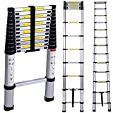 AVHE INDIA 13-Steps Portable & Compact Telescopic Foldable Aluminium Ladder for Household