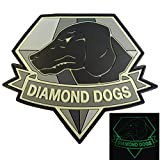 Diamond Dogs Metal Gear Solid Glow Dark Big Boss Snake PVC Gomma 3D Fastener Toppa Patch