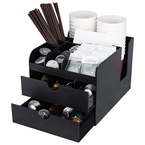 Kaffee Kapseln Aufbewahrungsbox mit Schubladen,Schwarz,DVCO-002
