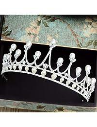 NEMACH Accessori Capelli Diadema di Perle della Corona da Sposa Cerchietto 6bba85e9d15d