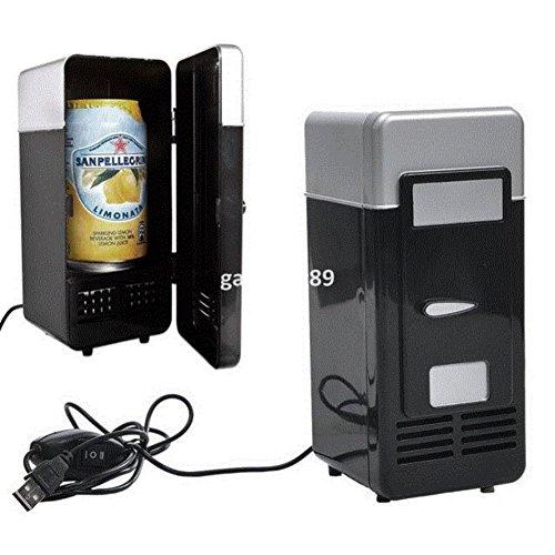 SL&BX Vintage mini-usb-kühlschrank kühler getränke trinken einzeltür mini kühlschrank mit gefrierfach-B (Edelstahl Kühler Trinken)