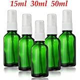 Generic 30ml : 1PCS Green Glass Empty Perfume Spray Bottle 15ml 30ml 50ml Fine Mist Atomizer Refillable Bottles...