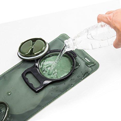 Enko Trinkbeutel 2L, Auslaufsicher Trinksystem Blase, Outdoor-Hydratation-Blasen,Einfach zu Säubern Sie, am Besten für das Wandern, das Kampieren, das Radfahren, die Jagd, das Klettern. grun