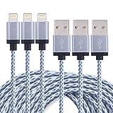 Duractron 3Pack 3M Nylon Ladekabel Lightning USB Kabel kompatibel mit Apple iPhone 6 Plus/6 /5/5S/6s...