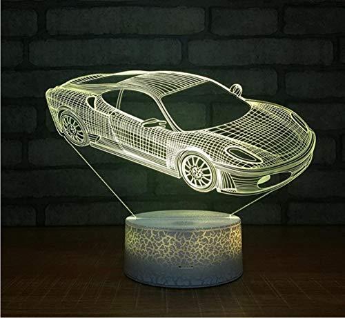 r Neuheit 3D Sieben-Farben-GeführteTätigkeits-Geschenk-3D-Lampen-Kleine Tabelle Führte Nachtlicht C ()