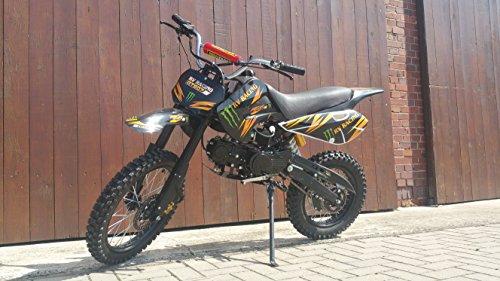 RV-RACING GT607S 125ccm Dirtbike Schwarz Pitbike Enduro Cross 4 Takt 4 Gang TOP!!
