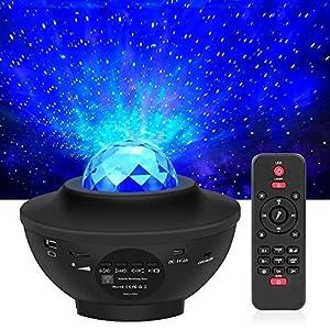 LED Projektor Sternenhimmel mit Fernbedienung, 3 in 1 Galaxy Light, Sternenlicht Stern Projektor mit Bluetooth…
