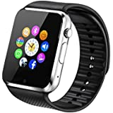 Fantime Smart Watch Bluetooth Wrist Phone Watch with SIM Card / TF card / HD Touch Screen Apple iPhone Samsung Galaxy Note Android Smartphones - Black