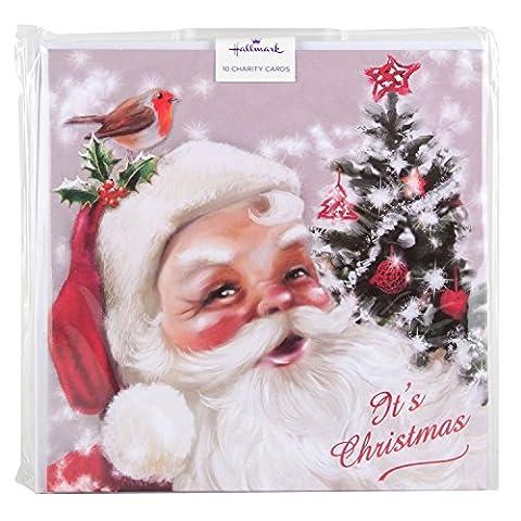 Hallmark Charity Christmas Card Pack 'Santa Claus' - 10 Cards,