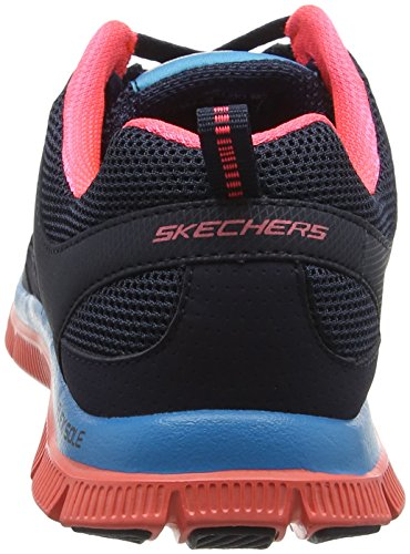 Skechers Flex Appeal Spring Fever, Chaussures de fitness femme Bleu (Nvcl)