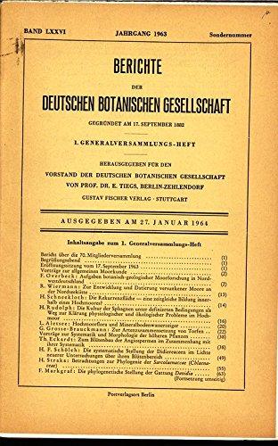 Hochmoorflora und Mineralbodenwasserzeiger, in: BERICHTE DER DEUTSCHEN BOTANISCHEN GESELLSCHAFT, 27. Jnauar 1964, Band LXXVI, Sondernummer.