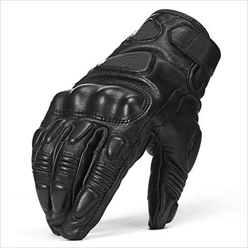 XIUJUN dext/érieur en Acier renforc/é Laiton Knuckle Moto Powersports Racing Textile Gants de s/écurit/é L, bleu