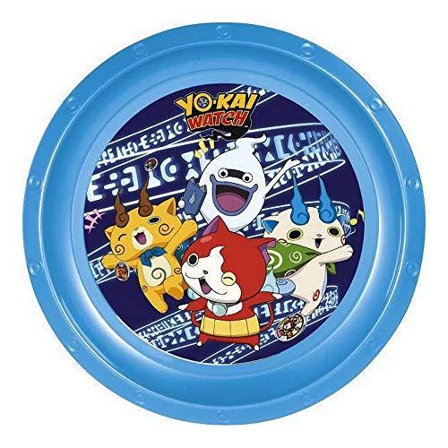 GUIZMAX Assiette Plate Yo Kaï Watch Repas Enfant Plastique