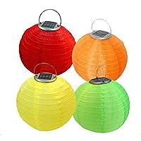 MEIWEI Lanterna LED solare decorazione gonfiabile (confezione da 2) , Yellow