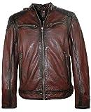 Gipsy - Herren Lederjacke Bikerjacke Lammnappa dunkelrot/ox-red Größe XXL