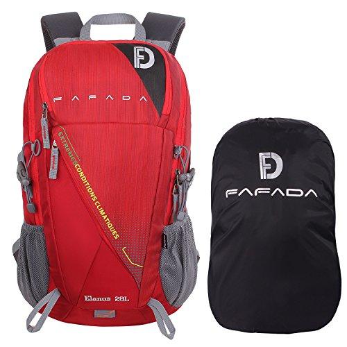 Imagen de fafada 28l unisex  de senderismo viaje marcha del deporte casual escalada trekking con cubierta de lluvia?impermeable rojo