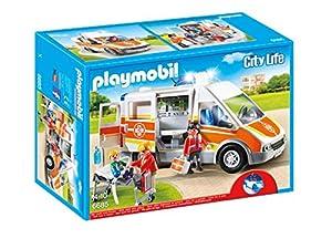 Playmobil- City Live Ambulancia con Luces y Sonido, (6685)