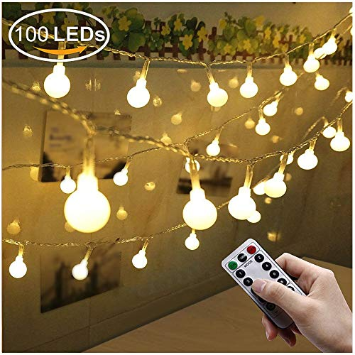 Catene Luminose, Fenvella 10M 100LED IP66 Stringa Luci Led Con 8 Modalità Flash Per Casa,Festa,Giardino,Natale,Halloween,Matrimonio.