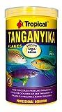 TROPICAL TANGANYIKA FLAKE zutatenreiches Basis-Flockenfutter für Cichliden aus dem Tanganjika-See -...
