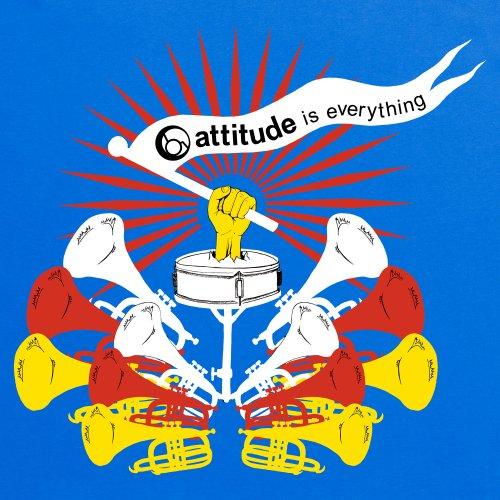 Attitude is Everything Trumpets T-Shirt, Herren Royalblau