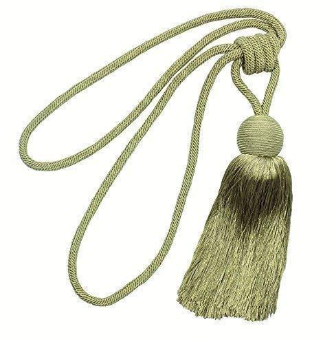 Luxus Perser senf gelb mit Quaste Seil Vorhang Tuch Raffband raffarme 63,5cm-64cm (63 Lange Gardinen)