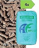 WUEFFE S.R.L. Stallatico Pellet - 4 Sacchi da kg 25 - Concime Naturale ammendante pellettato